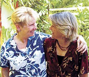 Kath Sands and Linda Krieger
