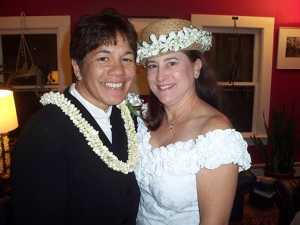 Tambry Young and Suzanne King wed in Salem, MA on 11.7.09
